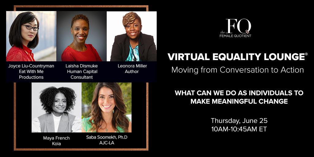 Saba Soomekh Virtual Equality Panel